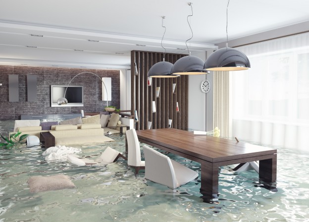 flooded luxury apartment